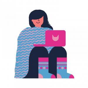 Image confort plaid chaussettes