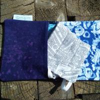 masque et pochette en tissu