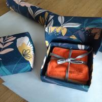 cotons à démaquiller et boite origami
