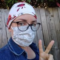 bonnet de bloc lavable et masque lavable