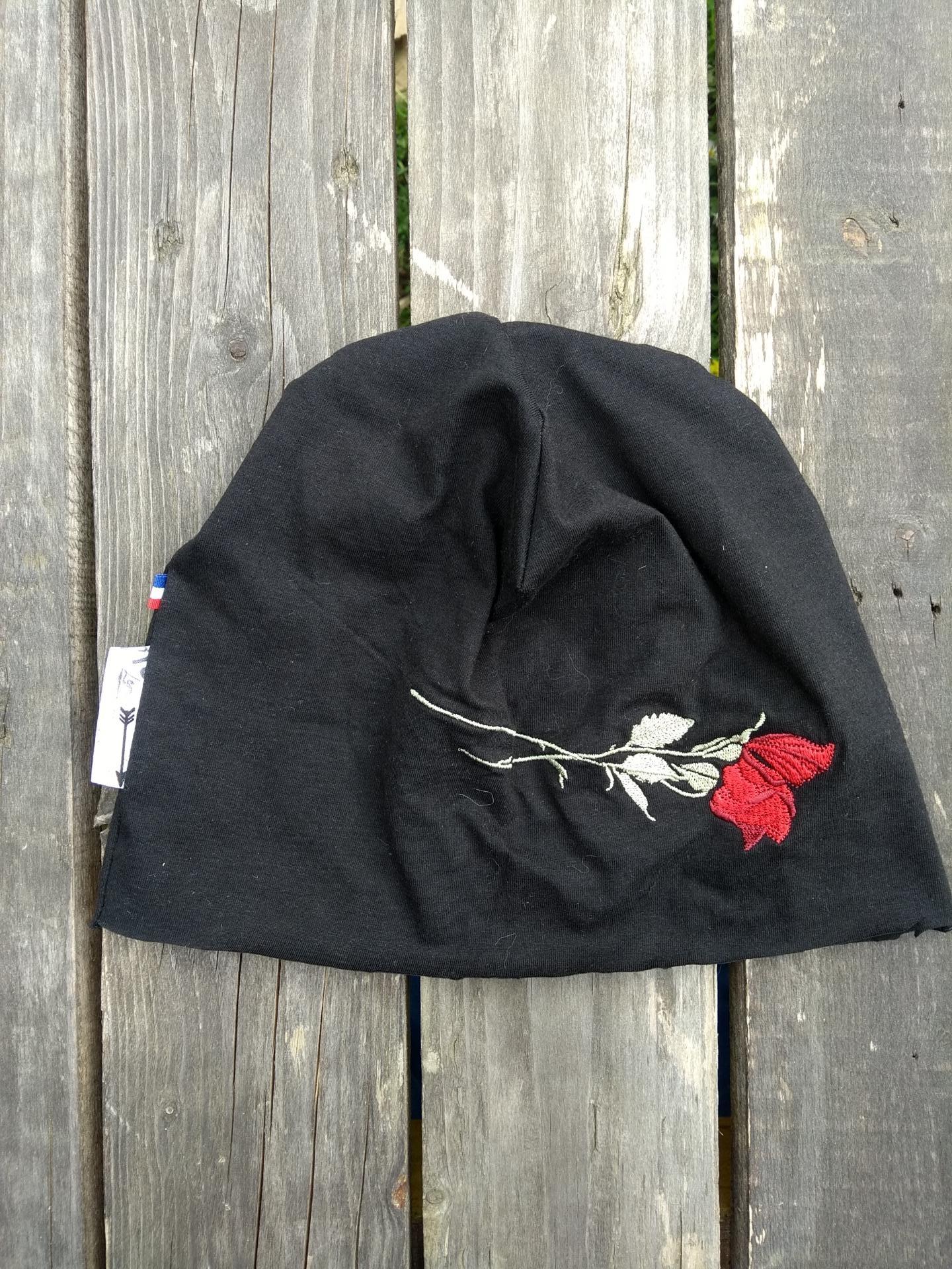 bonnet de bloc lavable rose rouge
