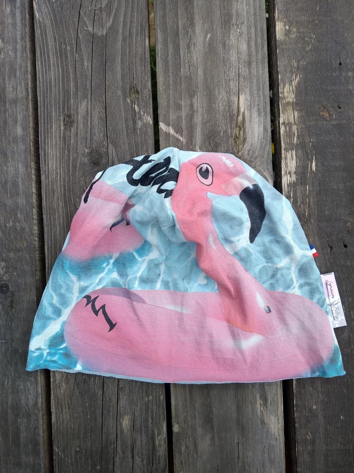 bonnet de bloc lavable flaments roses