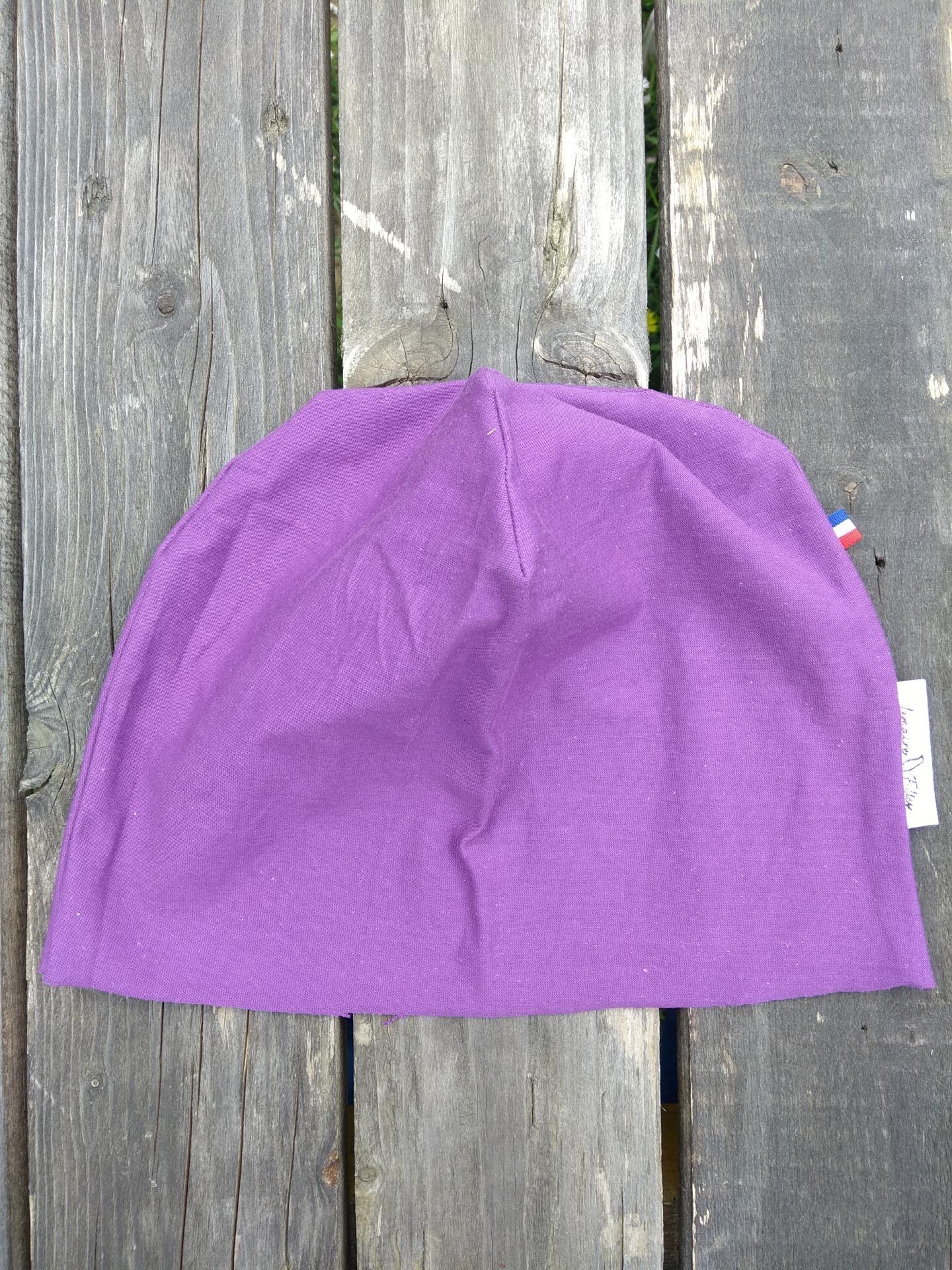 bonnet de bloc lavable violet