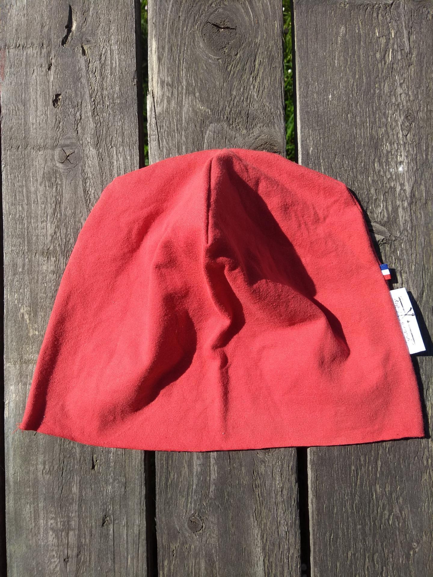 calot de bloc lavable rouge