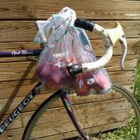 sac à vrac et vélo