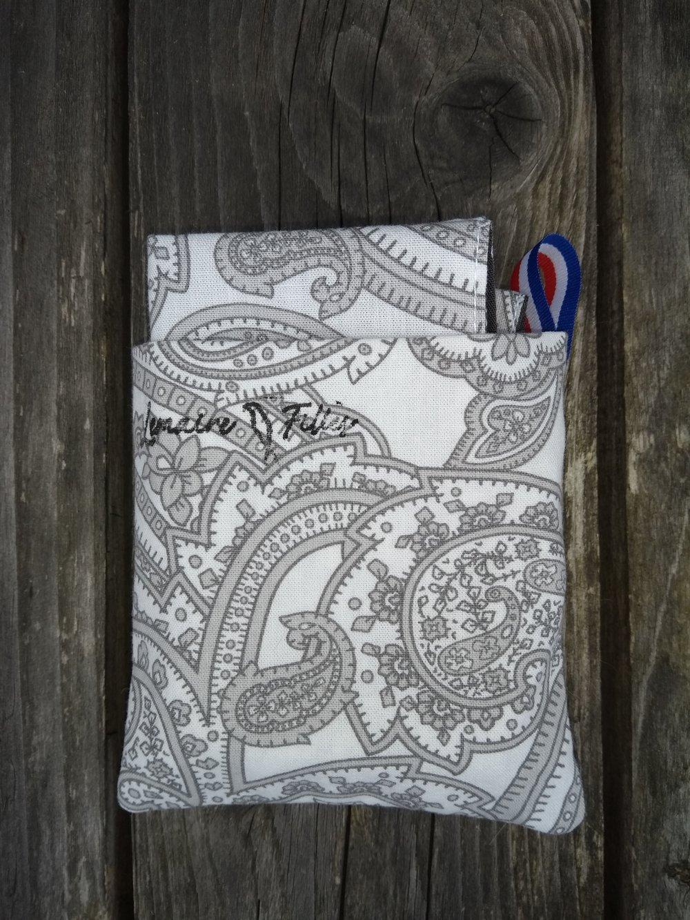 Mouchoir lavable mocagr pochette